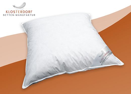 luxus klosterdorf kopfkissen daunenkissen wildente typ eiderdaune luxuri s ebay. Black Bedroom Furniture Sets. Home Design Ideas